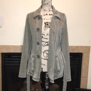 Roxy cardigan sweater size small greenish gray